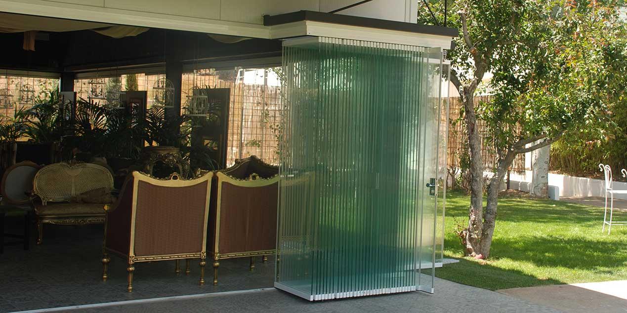 Cortinas de Cristal de 100 hojas de vidrio