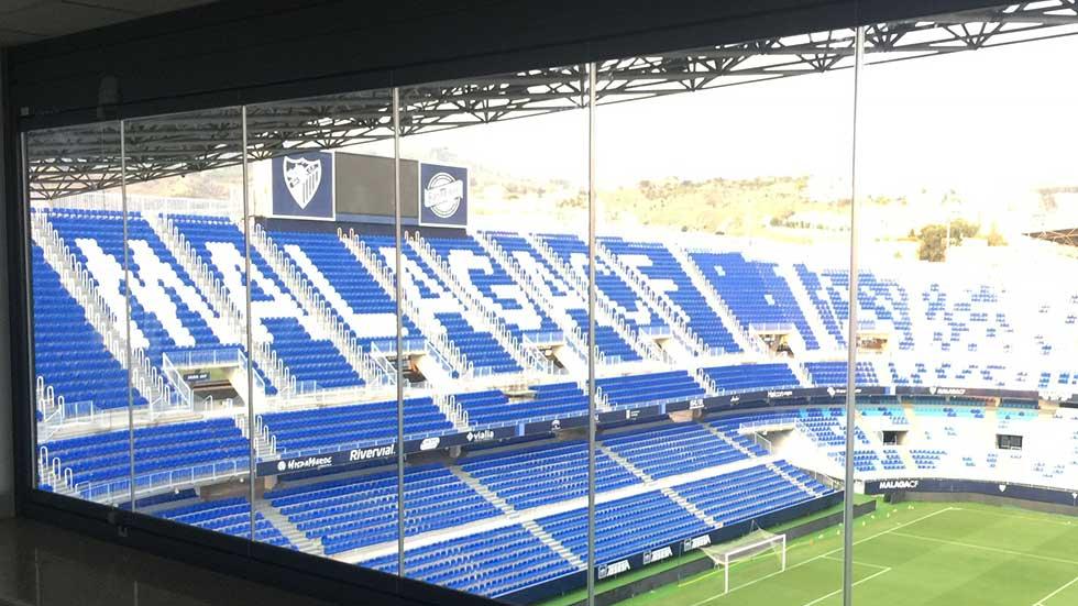 Acristalia en la Rosaleda, estadio y museo del Málaga CF