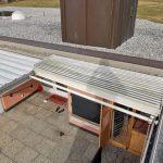Historia de un techo móvil deslizante de vidrio Acristalia en Suiza ANTES TEJADO ABIERTO